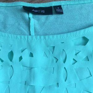 Apt. 9 Tops - Mint green cut out blouse